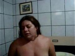 Rabuda de 40 anos fazendo sexo brasileiro com dotado
